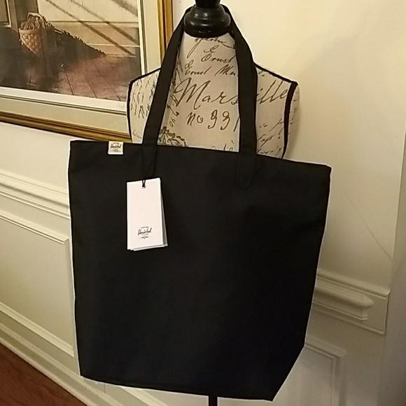 1ab8a710c Herschel Supply Company Bags | Hold Herschel Black Mica Tote Bag Zip ...
